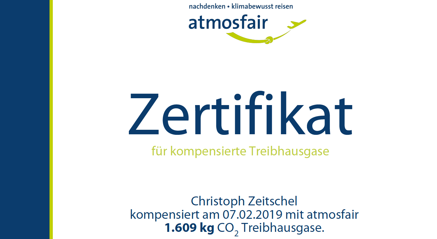 Kompensation Atmosfair