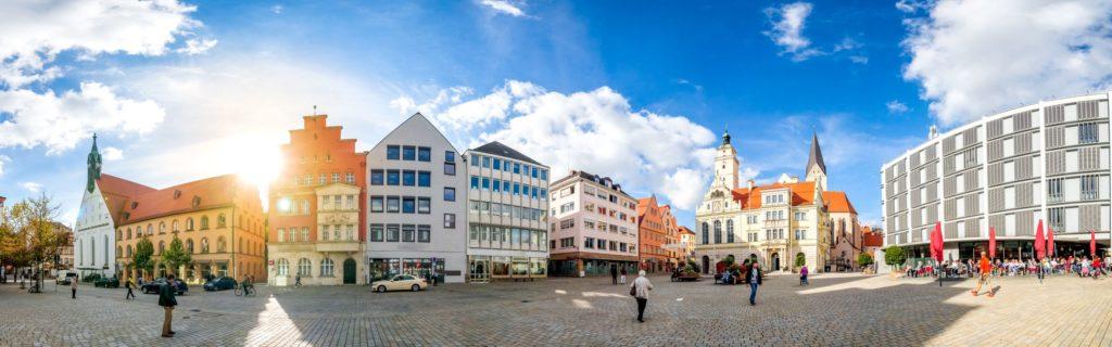 Rathausplatz in Ingolstadt, lizensiert bei Adobe Stock