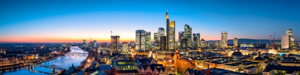 Skyline Frankfurt, lizensiert bei Adobe Stock