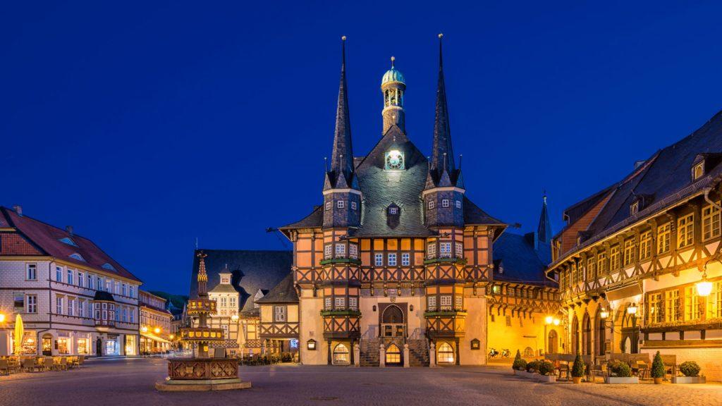 Rathaus Wenrigerode, lizensiert bei Adobe Stock