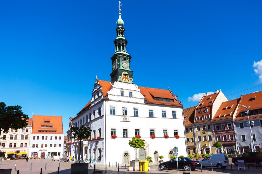 Pirna, Rathaus, lizensiert bei Adobe Stock