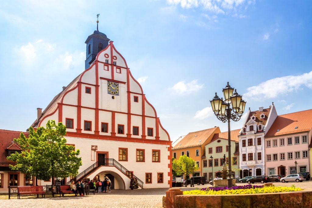 Rathaus von Grimma, lizensiert bei Adobe Stock